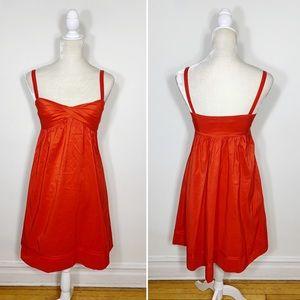 DVF empire waist A line sweetheart dress